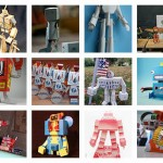 Flickr gallery:  Papertoy robots – part 1
