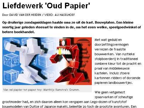 Part of the article in ad.nl