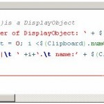 ActionScript syntax highlighting