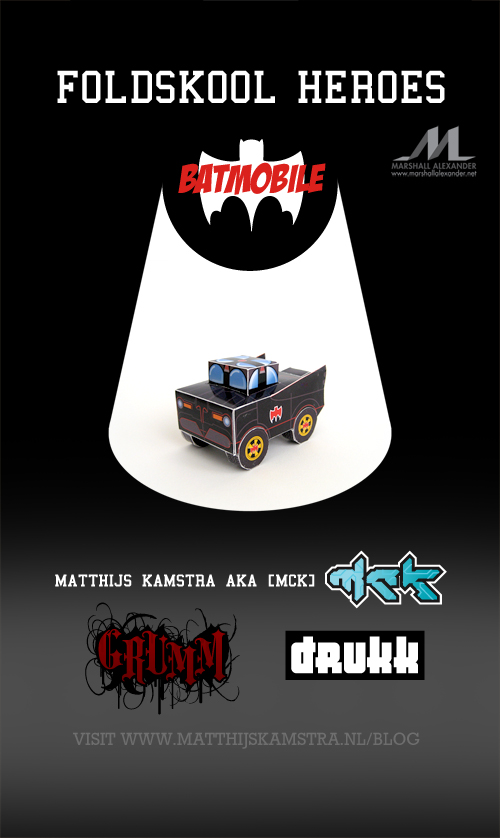 Batmobile Foldskool Promo