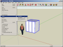 Google Sketchup - place the character and Export