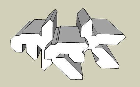 Google Sketchup - MCK 3D logo