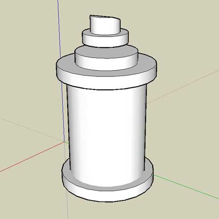 Spraycan in Google Sketchup