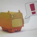 Urban papercraft: Speakerdog
