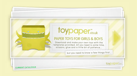 Toypaper homepage