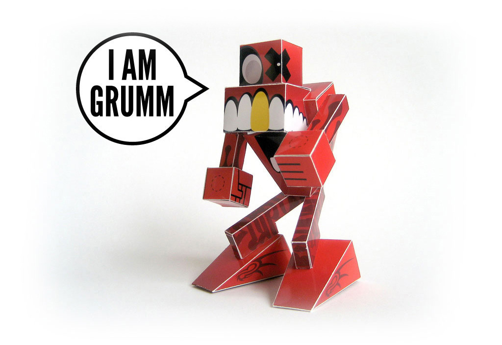 I am Grumm the Screamer Red