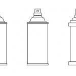 Papercraft prototype: Spraycan – part 1